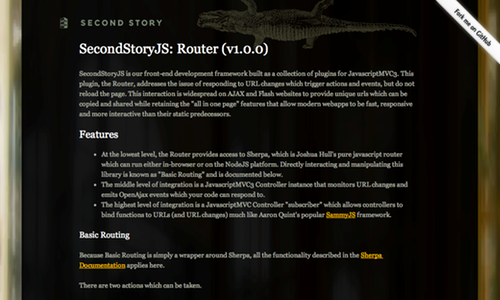 SecondStoryJS Router