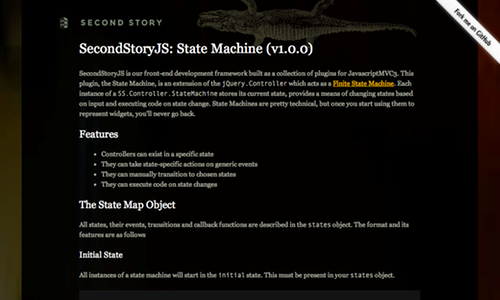 SecondStoryJS State Machine